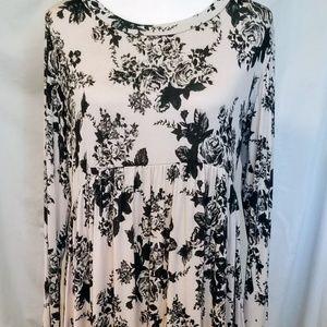 Tan and Black Soft Dress